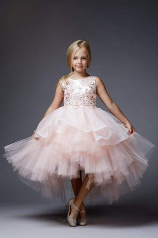 Tutu style dress with 3D rosettes
