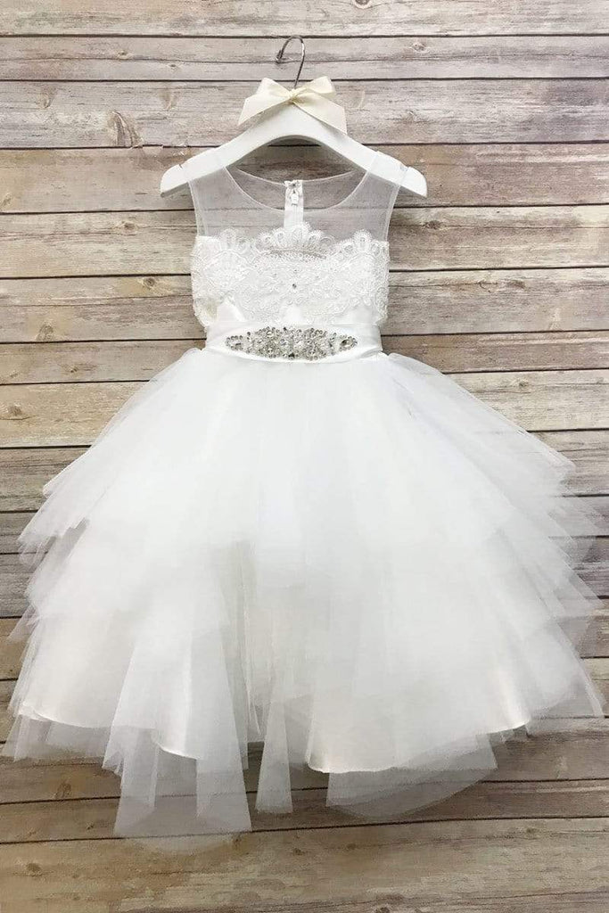 Tutu Style Dress with Sequin Removable Belt Blush