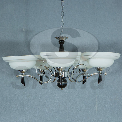 SNEHA Metal 5 Arms E27 Chrome Pendant Light