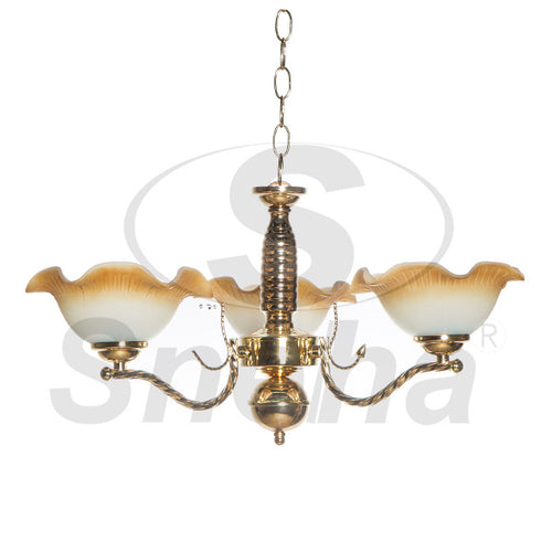 SNEHA Metal 3 Arms E27 French Gold Pendant Light