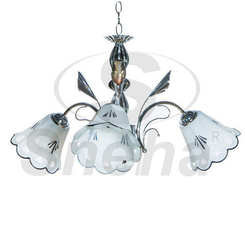 SNEHA Metal 3 Arms E27 Chrome Pendant Light