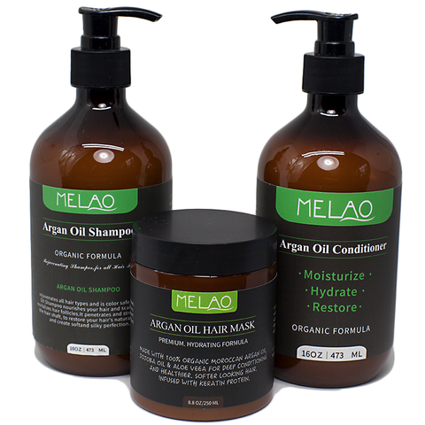 Melao Argan Oil Shampoo, Conditioner & Hair Mask