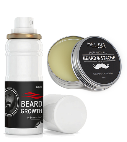 Beard Growth Spray Beard Balm Set