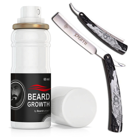Dark Side Blades Straight Razor &  Beard Growth Spray