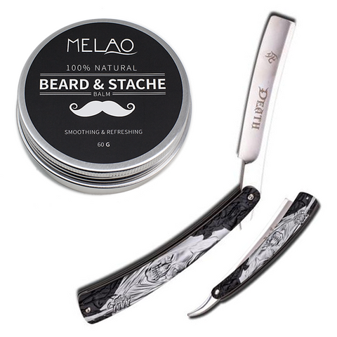 Dark Side Blades Straight Razor & Beard Balm