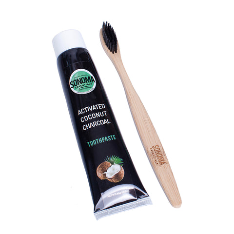 Sonoma Essentials™️Toothpaste & Bamboo Toothbrush Set
