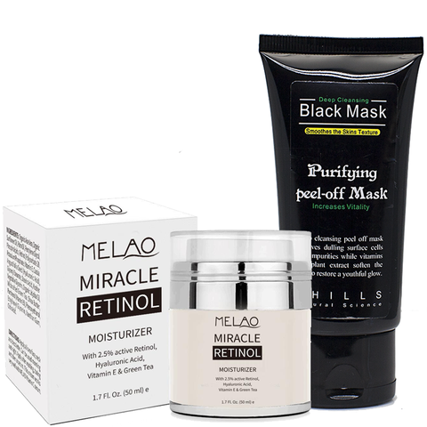 Miracle Retinol Cream & Black Peel Off Mask Set