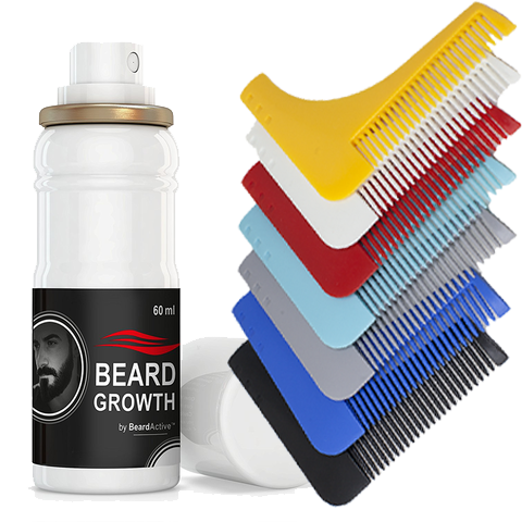Beard Growth Spray & Beard Comb Set