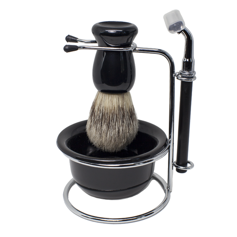 Razor and Shaving Brush Set