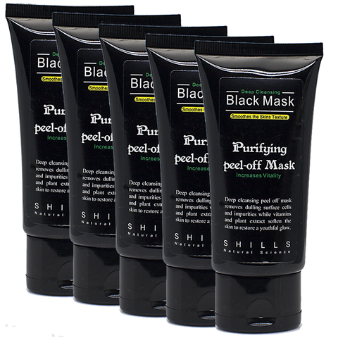 5 Black Peel Off Mask Set