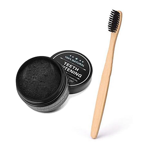 Teeth Whitening Charcoal & Bamboo Charcoal Bristle Toothbrush set