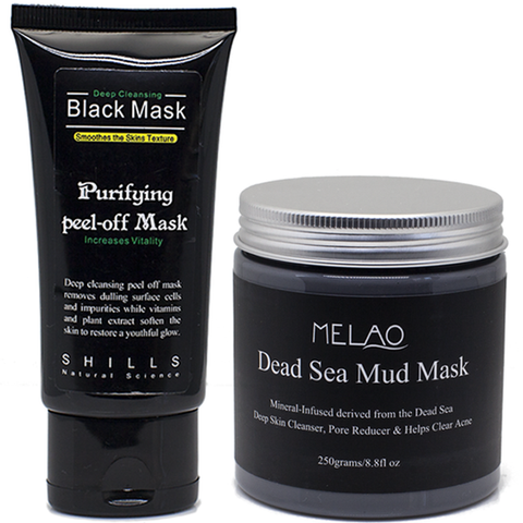 1 Black Peel Off Mask + Dead Sea Mud Mask Set