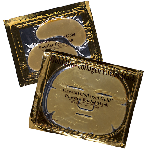 24K Gold Collagen Eye and Face Mask Set