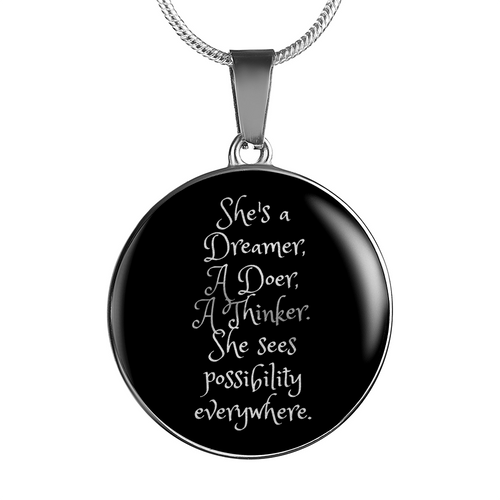 She's a Dreamer, a Doer, a Thinker Necklace/Bangle