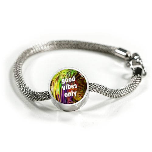 Good Vibes Only Luxury Charm Bracelet