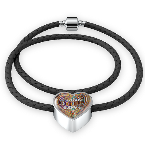 Radiate Love Leather Charm Bracelet