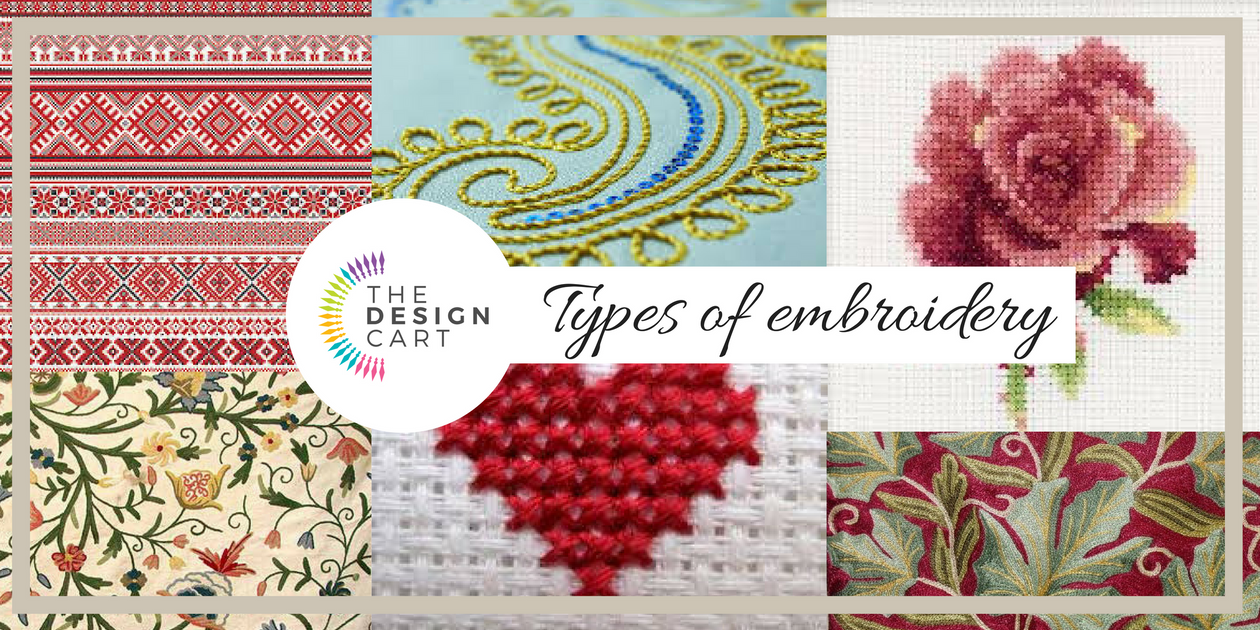 Types Of Embroidery The Design Cart