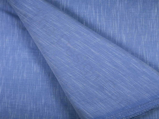 Cornflower Blue Plain Handloom Cotton Fabric