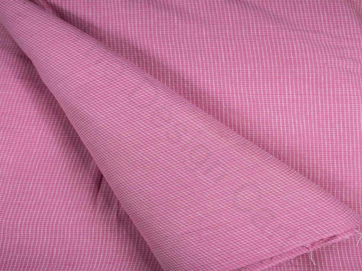 Pink Checks Cotton Fabric