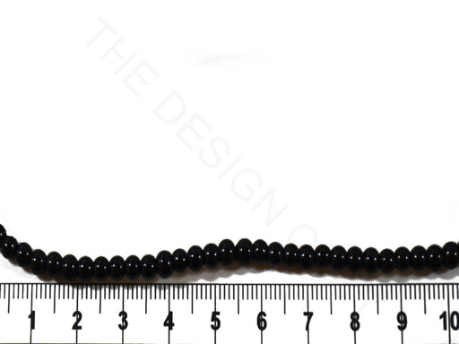 Black Spherical Pressed Glass Beads