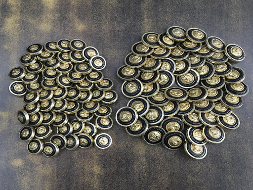 Black Golden Horse Acrylic Coat Buttons
