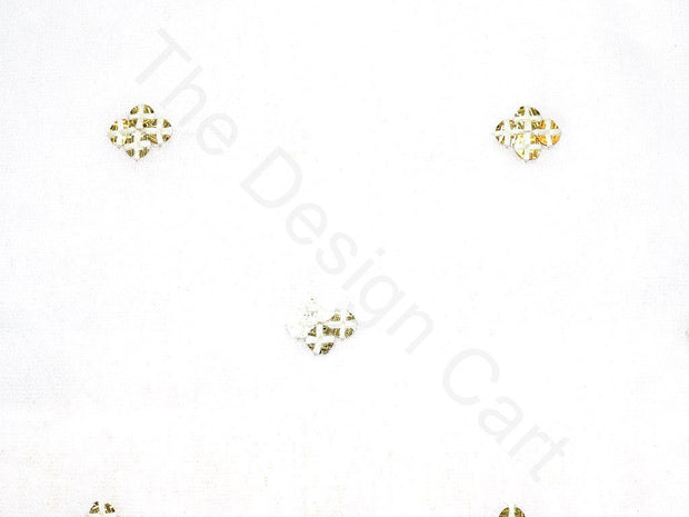White Sequins Motif Design Viscose Georgette Fabric