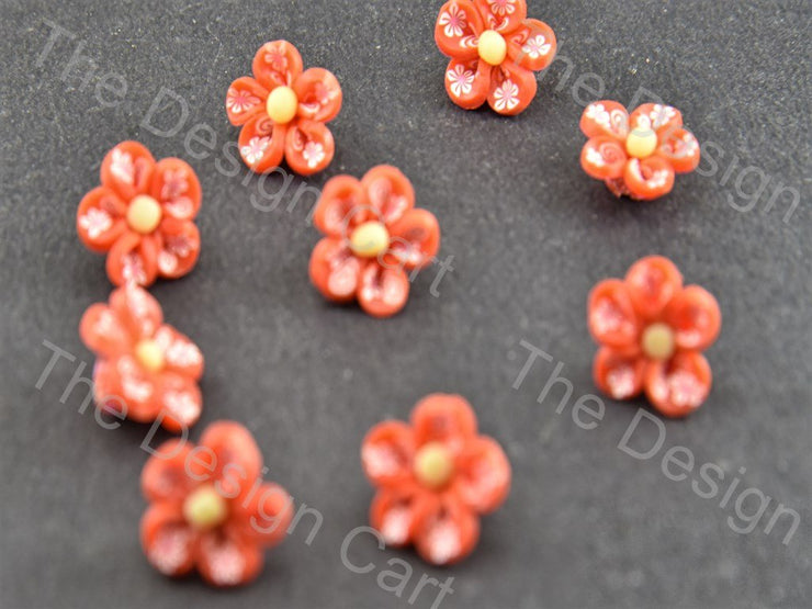 Red Baby Flower Plastic Stones (391654178850)