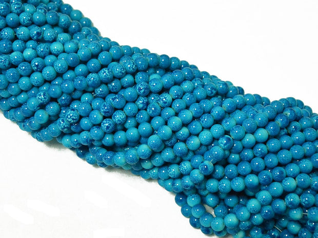 Bright Blue Spherical Glass Pearls | The Design Cart