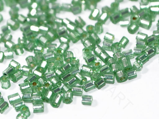Green 2 Cut Inside Color Seed Beads