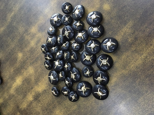 Black Gold Designer Acrylic Coat Buttons