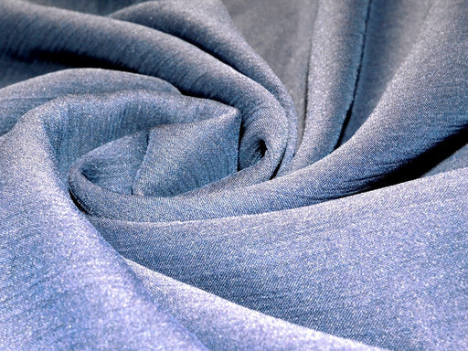 Blue Viscose Chiffon Fabric