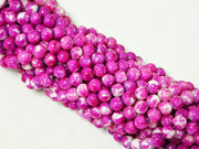 Hot Pink Spherical Glass Pearls | The Design Cart