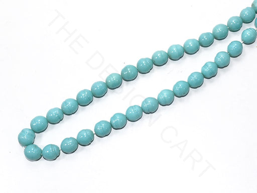 Turquoise Round Glass Pearls