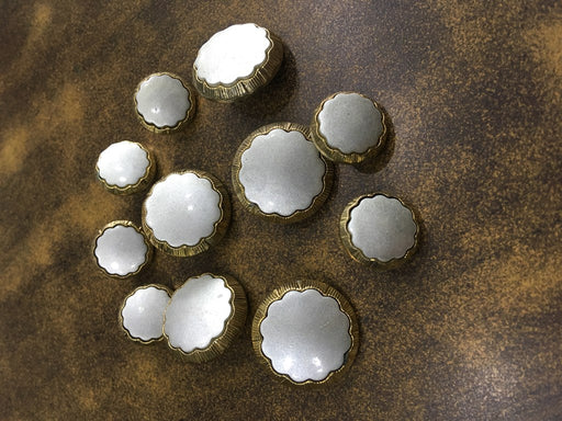 Silver Gold Floral Acrylic Coat Buttons