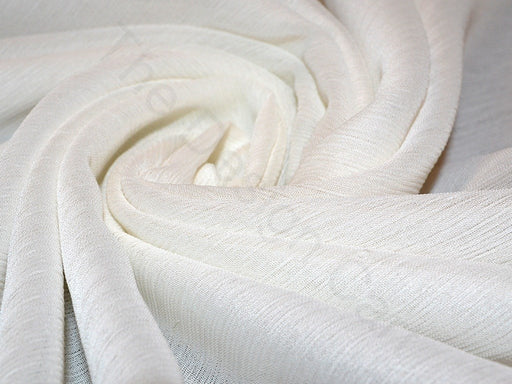 Dyeable White Poly Chiffon Fabric