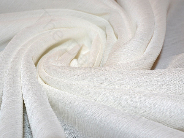 Dyeable White Poly Chiffon Fabric | The Design Cart