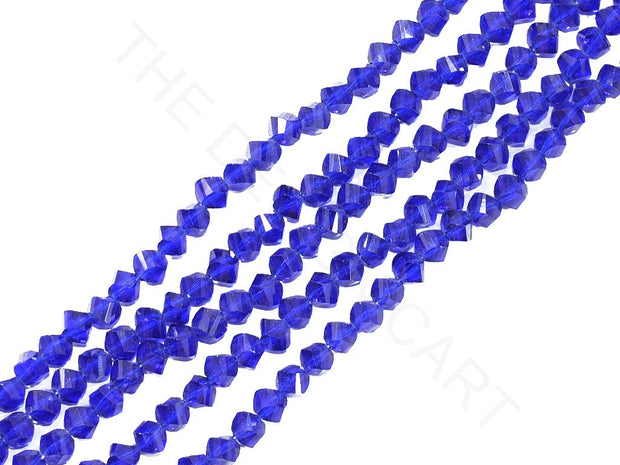 Blue Irregular Hexagonal / S-Cut Crystal Beads | The Design Cart (3824459776034)