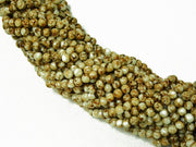 Olive Brown Spherical Glass Pearls | The Design Cart