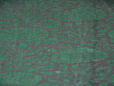 Black Green Marigold Print Chanderi Silk - The Design Cart