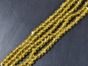 Yellow Irregular Hexagonal / S-Cut Crystal Beads | The Design Cart