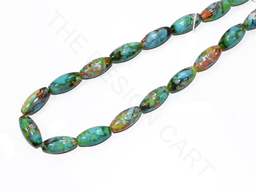 Sea Green Oval Glass Pearls
