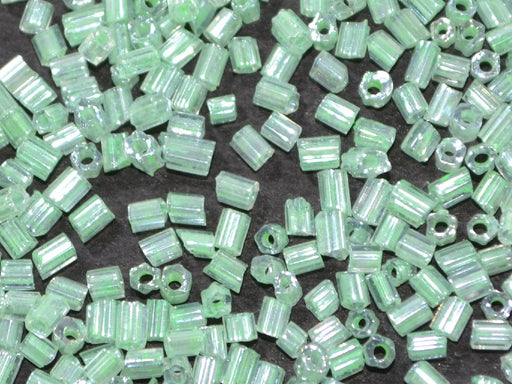 Light Green 2 Cut Inside Color Seed Beads