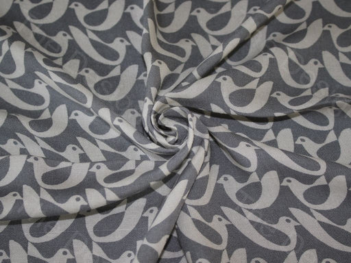 Gray Design 2 Cotton Rayon Fabric