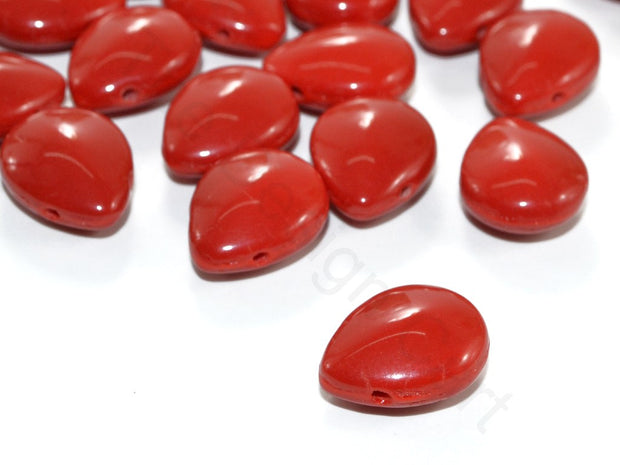 Red Pip Czech Glass Beads | The Design Cart