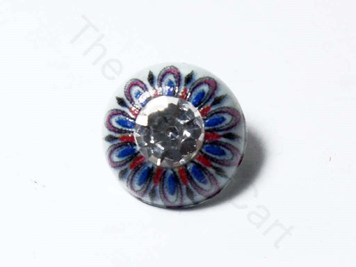 Multicoloured Stone Work Acrylic Buttons