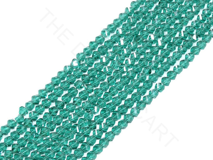 Green Irregular Hexagonal / S-Cut Crystal Beads | The Design Cart (3824459939874)