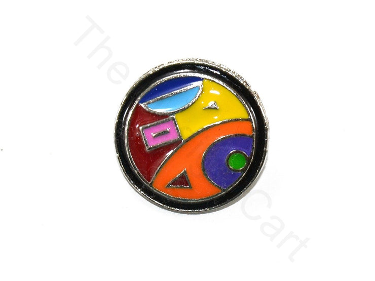 Multicolour Abstract 3 Kundan Buttons