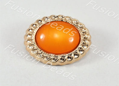 Orange Pearl Button