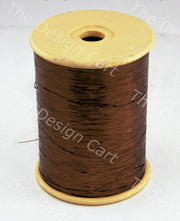 Brown Flat Badla (Metallic Yarn) - The Design Cart