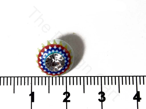 Multicoloured 2 Stone Work Acrylic Buttons